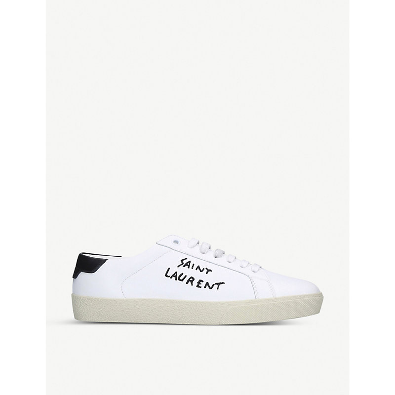 Saint Laurent Shoes COURT CLASSIC LEATHER TRAINERS