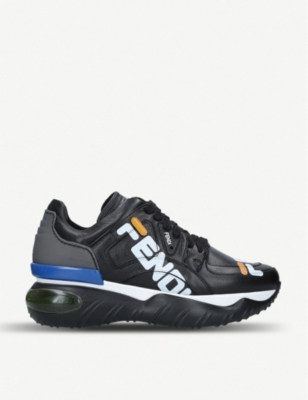 FENDI Hey Reilly leather trainers