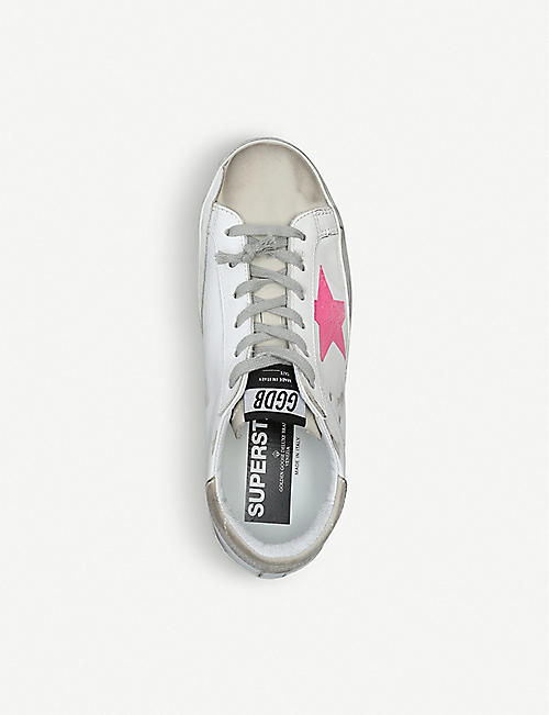 premium selection 7c7f9 f45e7 GOLDEN GOOSE Superstar M96 distressed leather trainers