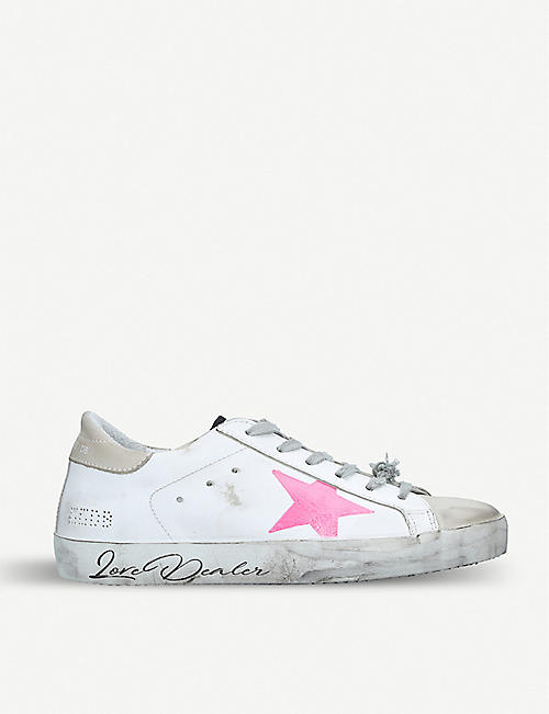 b2c26bc4761d GOLDEN GOOSE Superstar M96 distressed leather trainers