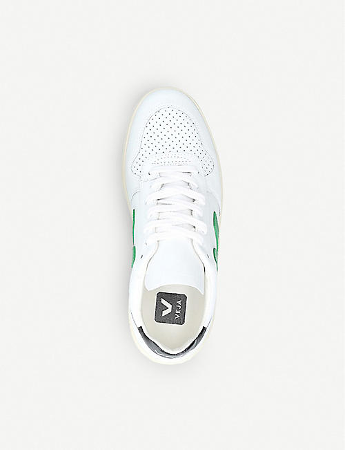 VEJA V-10 coated-cotton trainers