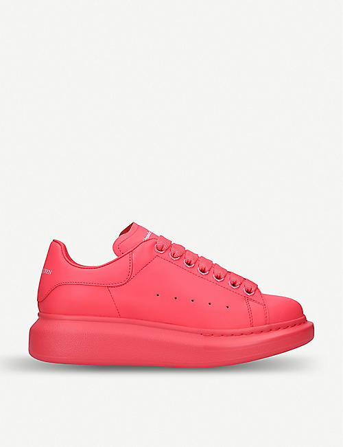 0f543800050107 ALEXANDER MCQUEEN Runway leather trainers