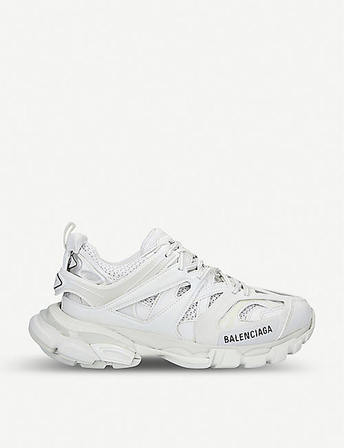 56262d6f8ae BALENCIAGA Womens Track nylon and mesh trainers