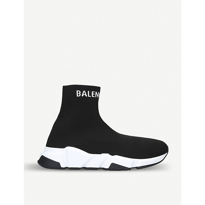 BALENCIAGA   Speed High-Top Knitted Trainers   Goxip