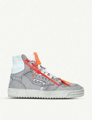 OFF-WHITE C/O VIRGIL ABLOH Off-Court glitter high-top trainers