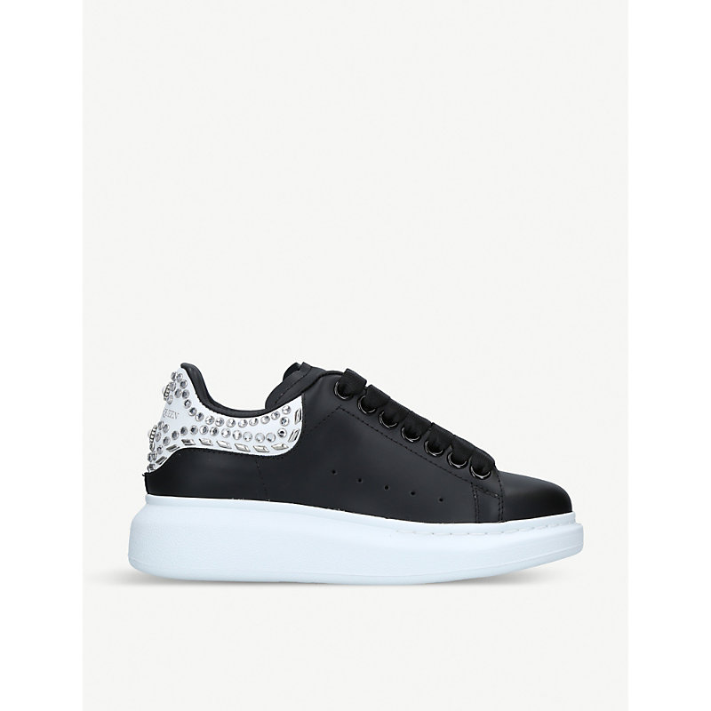 ALEXANDER MCQUEEN | Runway Leather Trainers | Goxip