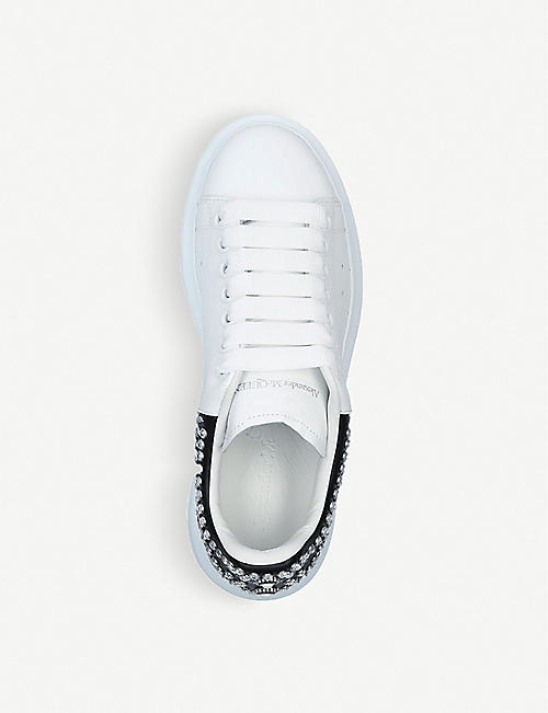 ALEXANDER MCQUEEN Ladies Runway stud-detail leather trainers