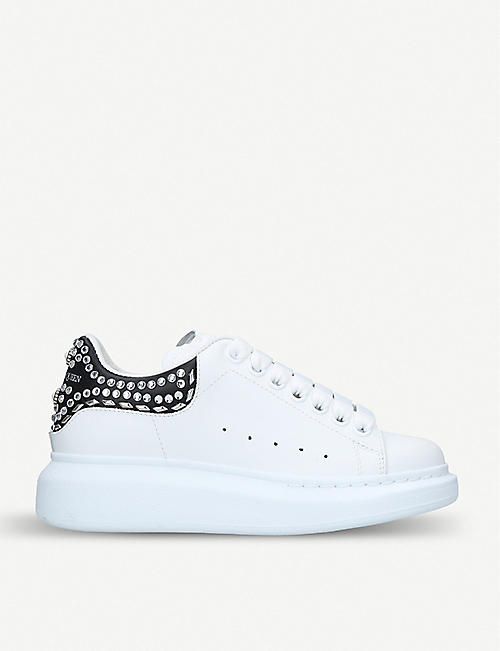 b1f37a51a7071 ALEXANDER MCQUEEN Ladies Runway stud-detail leather trainers