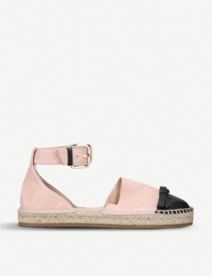 RED VALENTINO Bow-detail leather espadrilles