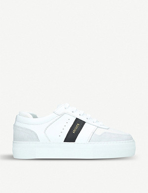 AXEL ARIGATO Dunk suede-trimmed leather trainers