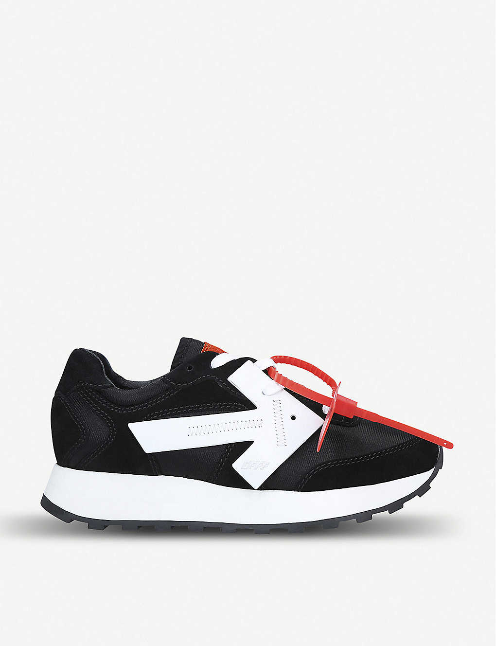 OFF-WHITE C/O VIRGIL ABLOH: Arrow Runner suede and shell trainers