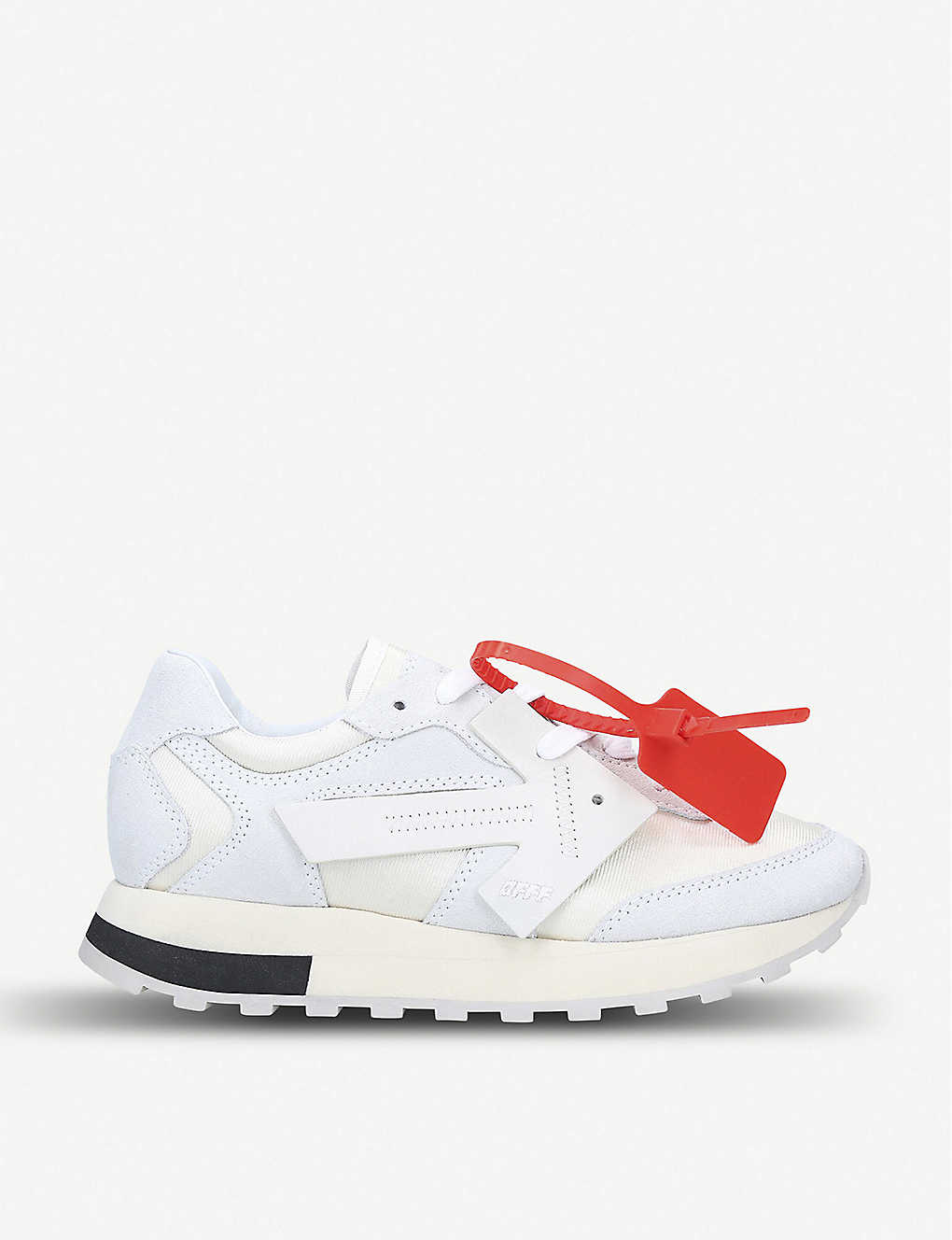 db667dbf1 OFF-WHITE C/O VIRGIL ABLOH - Arrow Runner suede and shell trainers ...