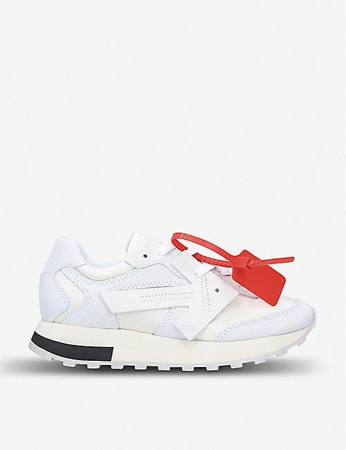 OFF-WHITE C/O VIRGIL ABLOH Arrow Runner suede and shell trainers