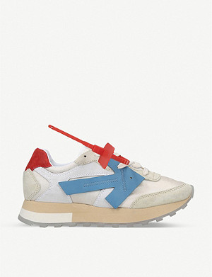 OFF-WHITE C/O VIRGIL ABLOH Arrow Runner suede trainers