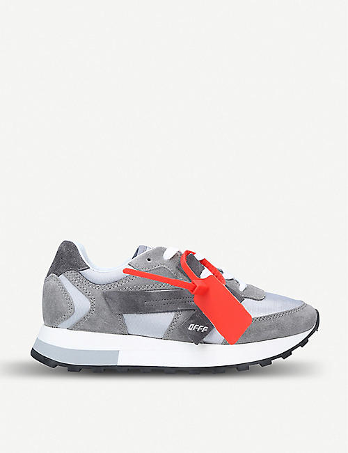 bb1b41f53d02 OFF-WHITE C O VIRGIL ABLOH Arrow Runner suede and shell trainers