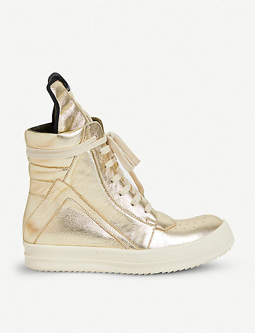 RICK OWENS Geobasket leather high-top trainers