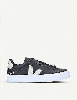 VEJA: Campo ChromeFree leather low-top trainers