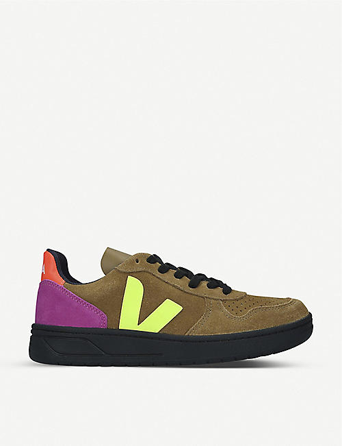 VEJA V-10 Bastille low-top nubuck leather trainers