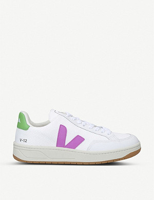 VEJA V-12 b-mesh and leather trainers