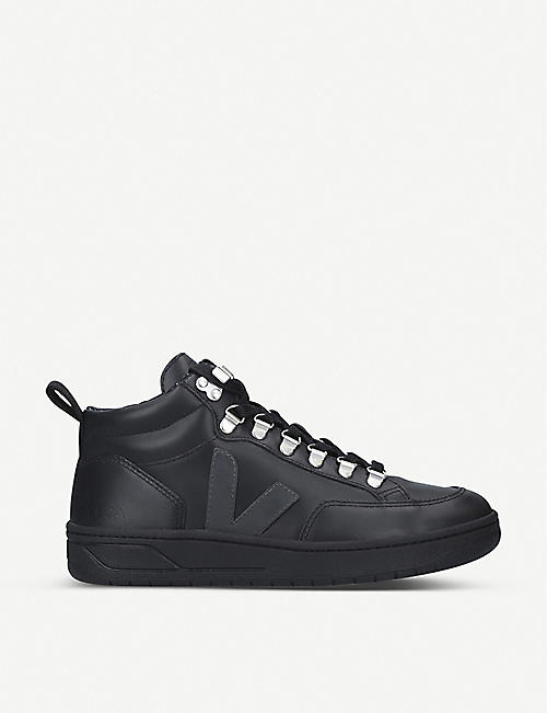 VEJA Roraima leather mid-top trainers