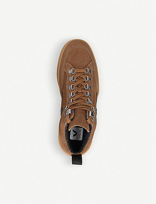VEJA Roraima suede mid-top trainers
