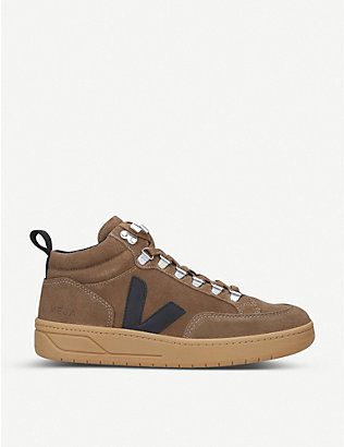 VEJA: Roraima suede mid-top trainers