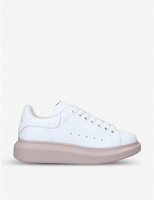 ALEXANDER MCQUEEN: Women's Runway leather platform trainers