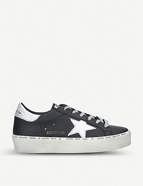 GOLDEN GOOSE Hi Star B9 leather trainers