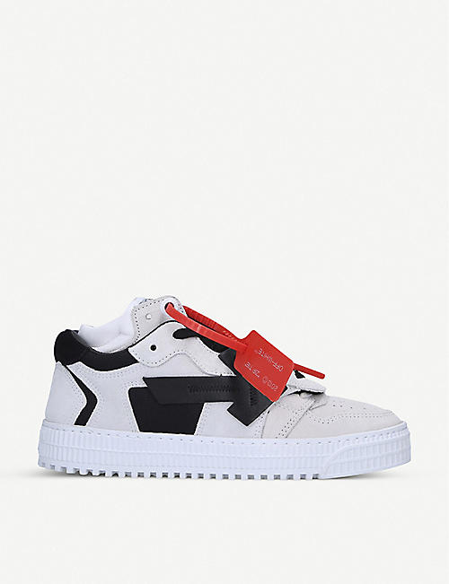 OFF-WHITE C/O VIRGIL ABLOH ODSY leather and suede trainers