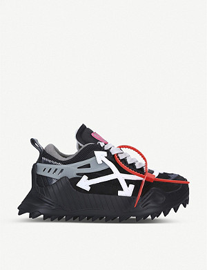 OFF-WHITE C/O VIRGIL ABLOH ODSY-1000 leather and mesh trainers