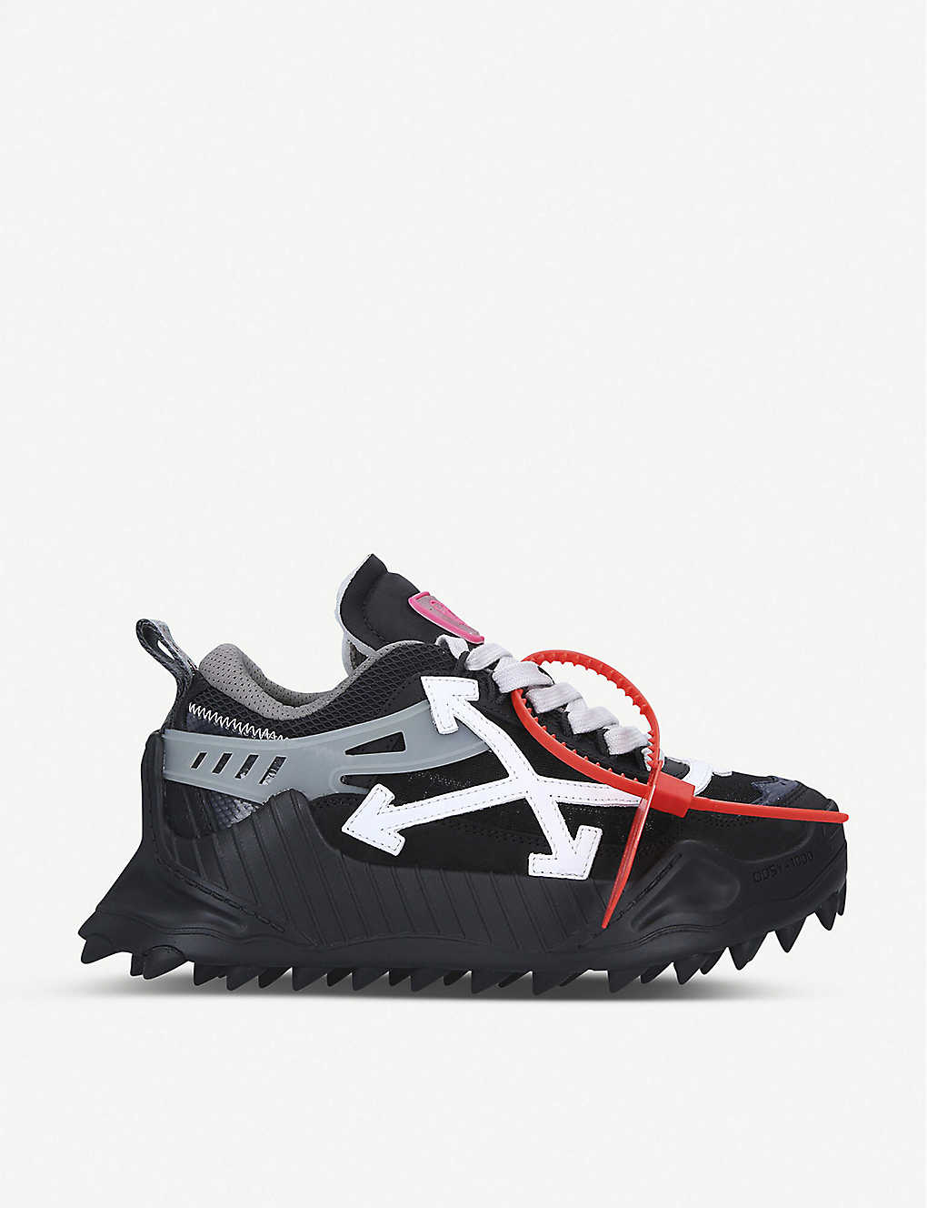 OFF-WHITE C/O VIRGIL ABLOH: ODSY-1000 leather and mesh trainers