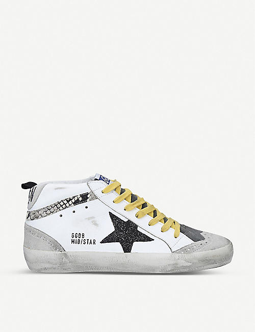 GOLDEN GOOSE Mid Star Q4 leather trainers