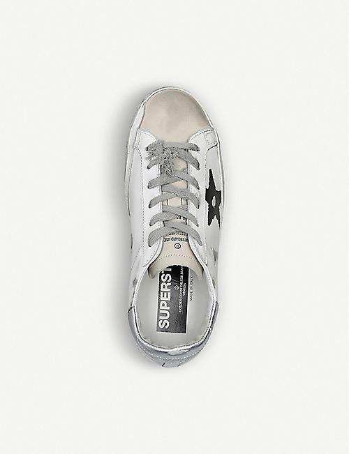 GOLDEN GOOSE Superstar Q27 Let A Dream leather and suede trainers