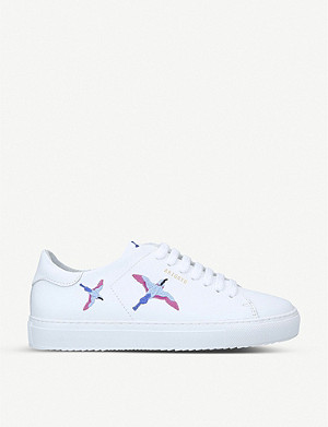 AXEL ARIGATO Clean 90 bee-eater embroidered leather trainers