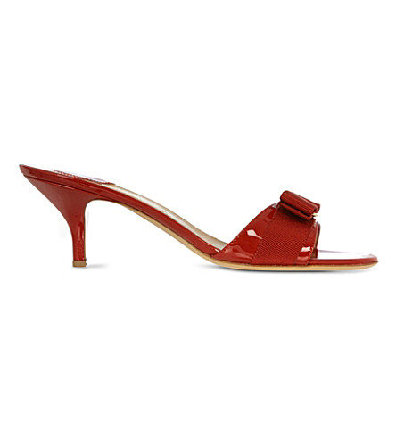 92b4ab50cd SALVATORE FERRAGAMO Glory 1 patent-leather heeled sandals (Red/dark