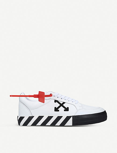 OFF-WHITE C/O VIRGIL ABLOH Arrow leather low-top trainers