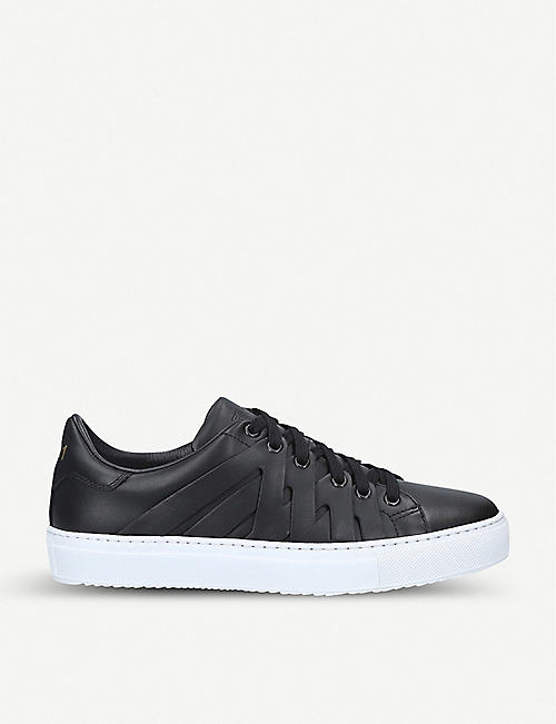 PS821 Alpha leather trainers