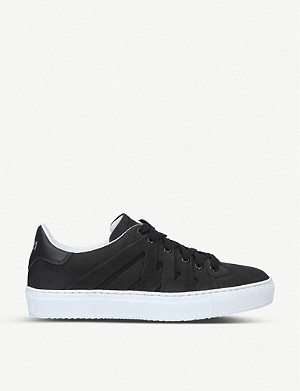 PS821 Alpha nubuck leather trainers