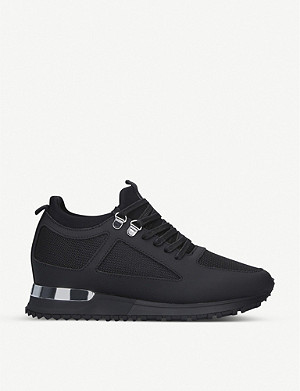 MALLET Diver leather and mesh trainers