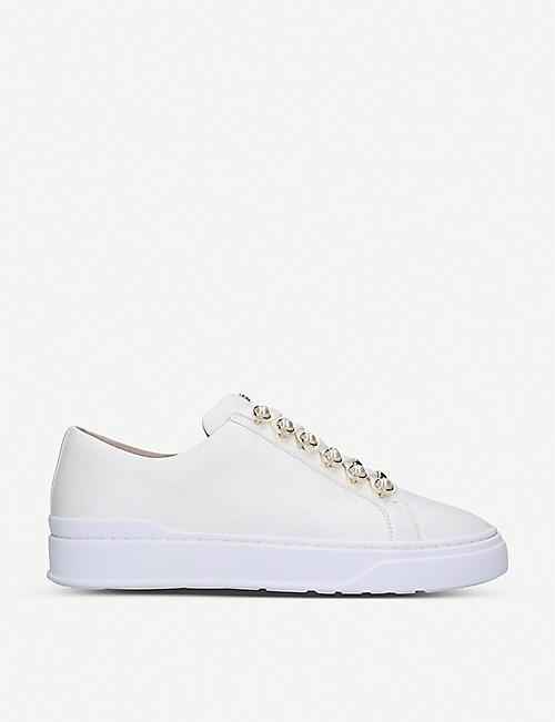 STUART WEITZMAN Excelsa leather trainers