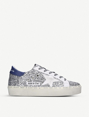 GOLDEN GOOSE Hi Star K7 star-embroidered glitter trainers