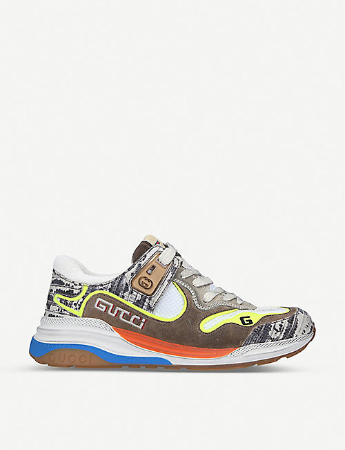 GUCCI: Ultrapace leather and textile trainers
