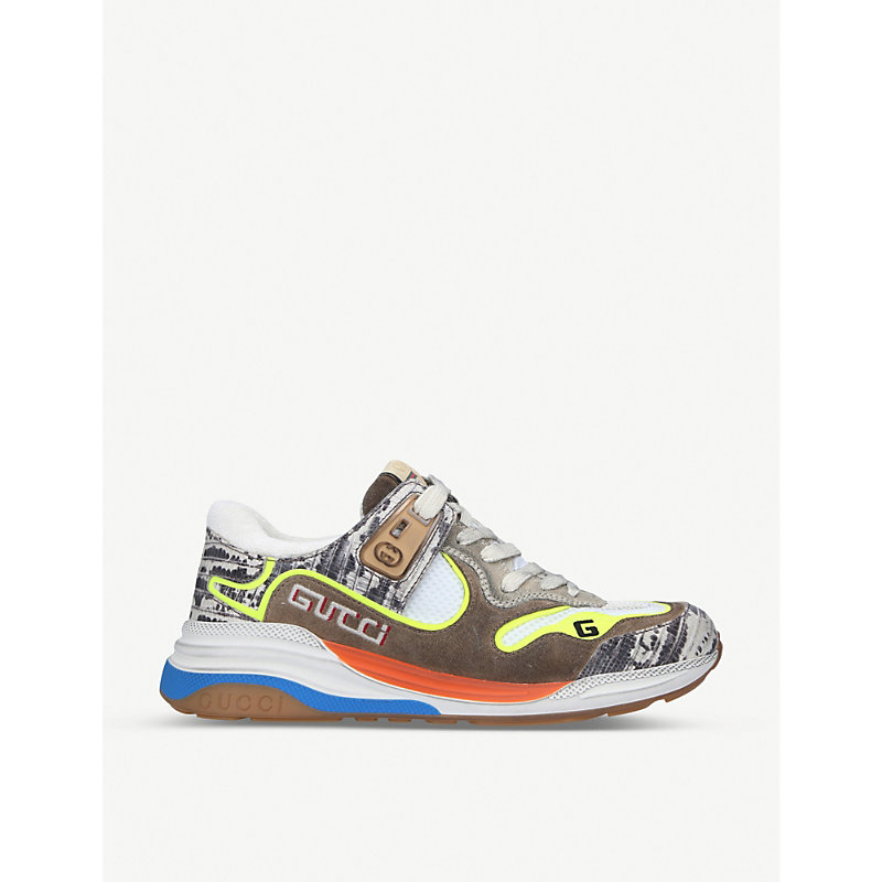 Gucci Shoes ULTRAPACE LEATHER AND TEXTILE TRAINERS