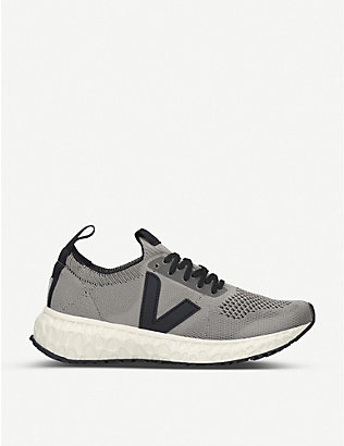 RICK OWENS: Women's V-knit woven low-top trainers