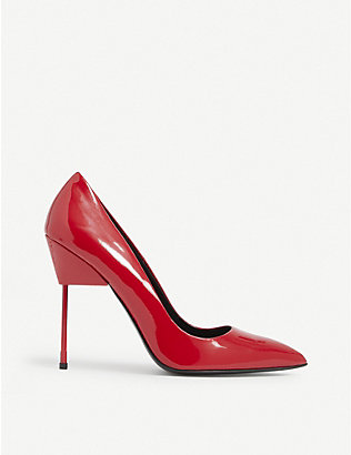 KURT GEIGER LONDON: Britton patent leather court shoes