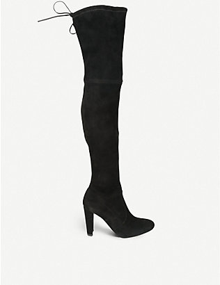 STUART WEITZMAN: Highland suede over-the-knee boots