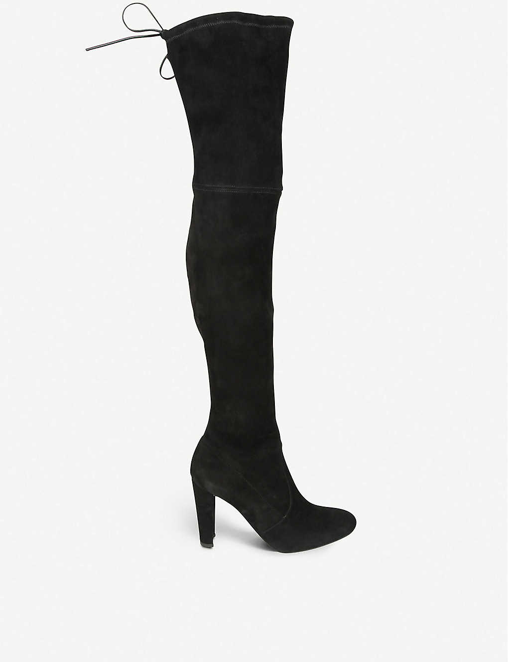 c75eb04d09 STUART WEITZMAN - Highland suede over-the-knee boots | Selfridges.com