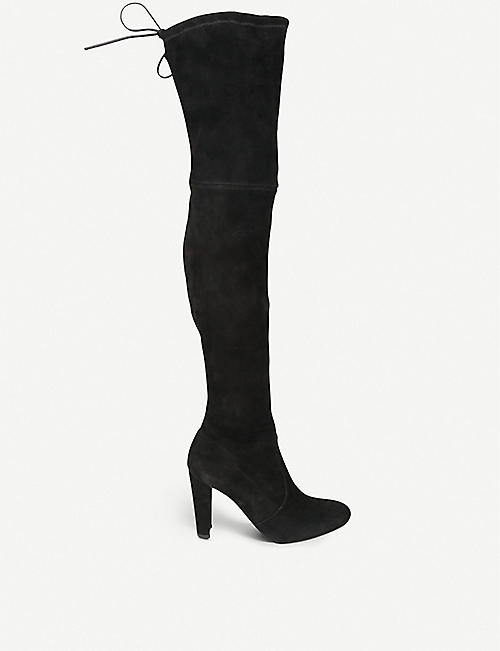b55c46accc3 STUART WEITZMAN - Highland suede over-the-knee boots