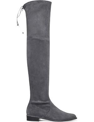 8eb5747af55 STUART WEITZMAN - Highland suede over-the-knee boots