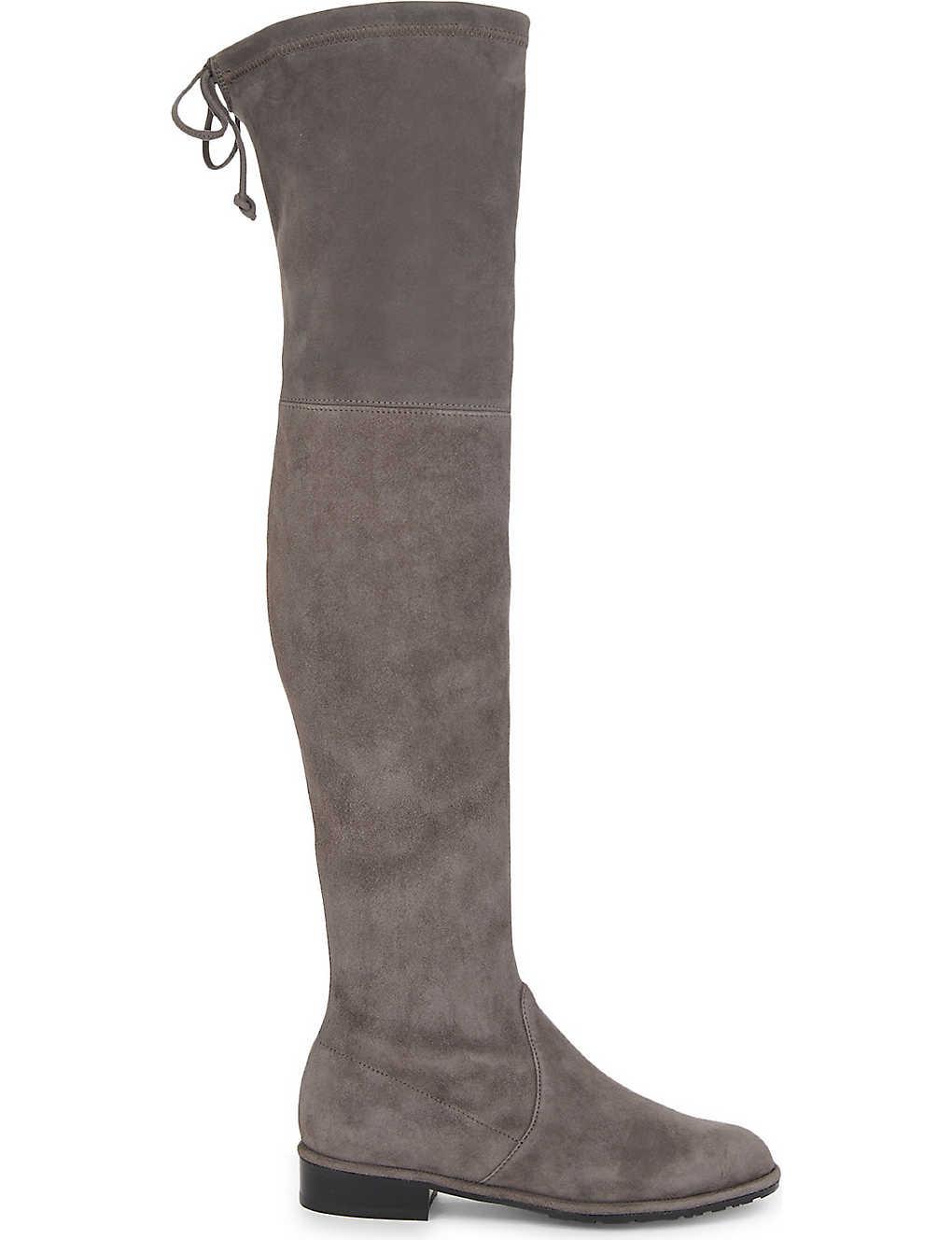9ac734c82547 STUART WEITZMAN - Lowland suede over-the-knee boots   Selfridges.com